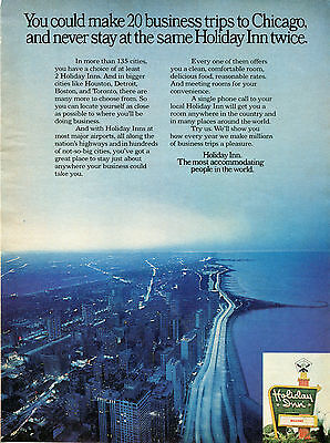 1972 Holiday Inn Chicago Il Hotel Print Ad