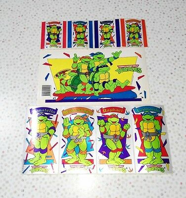 TMNT Teenage Mutant Ninja Turtles vintage retro stickers 1980s