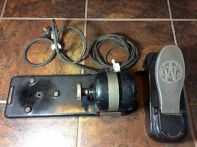 Willcox & Gibbs Sewing Machine Motor Stand and Foot Pedal Needs Rewiring