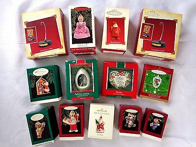 Lot of 13 HALLMARK  Christmas Ornaments