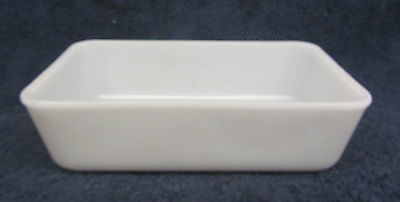 Vintage White Glass WESTINGHOUSE Pan Baking Casserole Refrigerator Dish Marked W