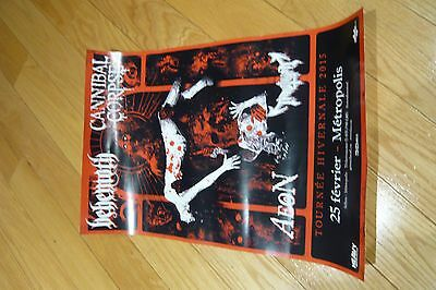 Behemoth/ Cannibal Corpse Signed Tour Poster 2015
