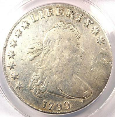 1799 Draped Bust Silver Dollar $1 - Certified ANACS VG8 Details - Rare Coin!