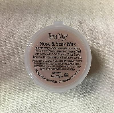 Ben Nye Nose & Scar Wax Fair 1 oz Professional Modeling Makeup Putty NW-1