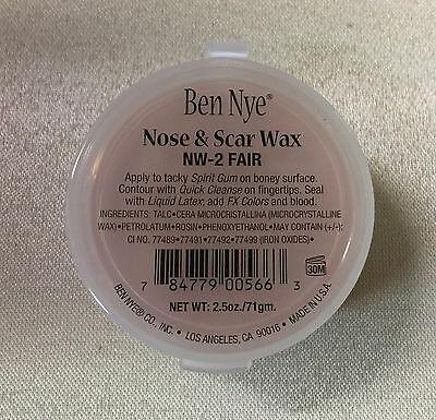 Ben Nye Nose & Scar Wax Fair 2.5 oz Professional Modeling Makeup Putty NW-2
