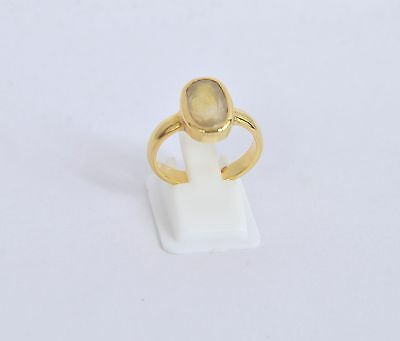 100 % Natural Certified Pukhraj (Yellow Sapphire) Ring In 5 Element (Panchdhatu)