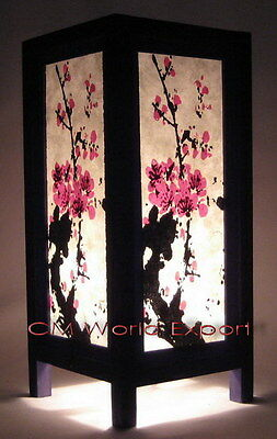 Asian Home Decor Table Lamps / Paper Lanterns - **japanese Cherry Blossom Tree**