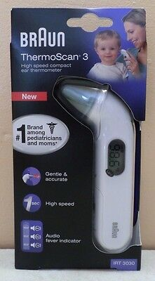 BRAUN IRT3030 ThermoScan 3 High Speed Compact Ear Thermometer NEW
