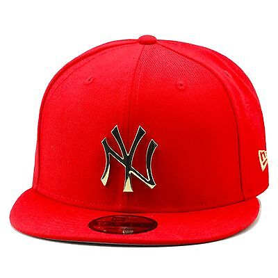 uk availability faffb c37e1 New Era New York Yankees Snapback Hat RED GOLD BADGE For foamposite 1  supreme