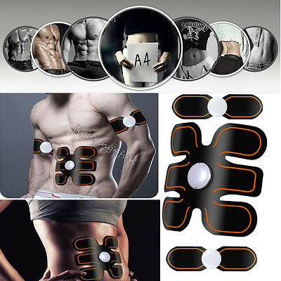 ABS Sixpad Training Gear Body Fit Electrical Muscle Stimulation Healthy Black AU