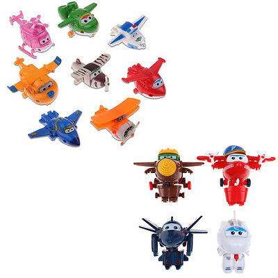 12pcs Animation Super Wings Transformable Airplane Robot  Action Figures Toy AU