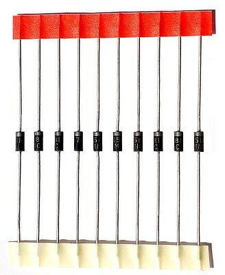 1N5817 10 pcs Schottky Rectifier Diode 20V 1A DO-41 Diodes IN5817 USA Seller