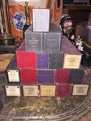 RARE LOT OF 17 PIANO ROLLS VERY OLD !!!!! See Photos ! Symphony,Chopin,Schubert
