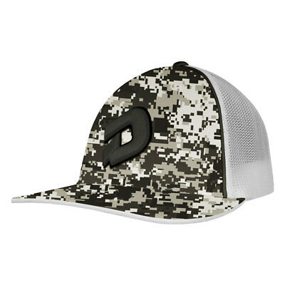 DeMarini D Logo Camo Baseball/Softball Trucker Hat - Snow Camo/Graphite - S/M