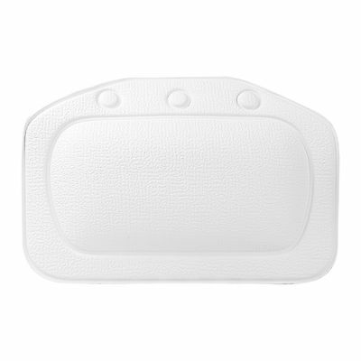 TOP-MAX White Relaxing Bath Pillow Case with Strong Suction Cups Spa Nest Hea...
