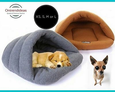 Cat Or Dog Pet Bed Igloo: Extra Small | Small | Medium Or Large | Keep Pets Warm