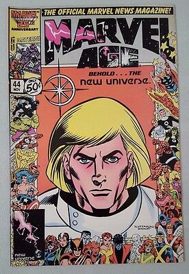 Marvel Age #44 1983 Series News Magazine Marvel Comics VF Flat Shipping