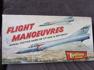 "Vintage Flight Manoeuvres ""Aerial Tactics Game of Attack & Defence"" Boardgame"