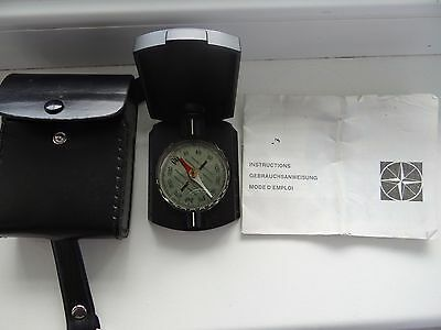 Vintage German Compass Germany metal with leather case