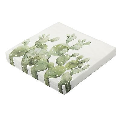 Stylish Eightmood Cactus Napkins, pack of 30, 3 ply 33cm x 33cm