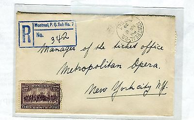 Canada, Registered cover, 13 cent purple, 1939, to New York   (531