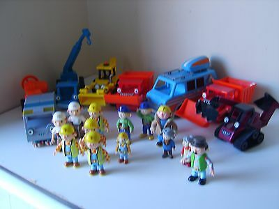 Bob the Builder Friction toy bundle figures rare items