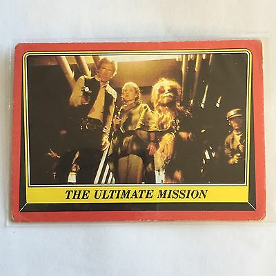 1983 SCANLENS TOPPS Card Star Wars Return Of The Jedi The Ultimate Mission 99