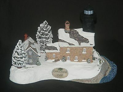 Harbour Lights Lighthouse #707 Old Field Point Christmas Limited Edition MIB