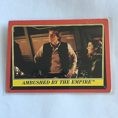 1983 SCANLENS TOPPS Card Star Wars Return Of The Jedi Ambushed By Empire #101