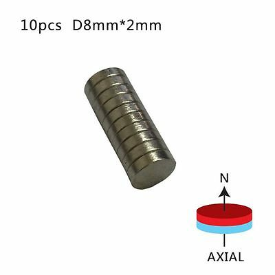 100PCS 8mm x 2mm N50 Super Strong Small Disc Magnet R are-Earth Neodymium New