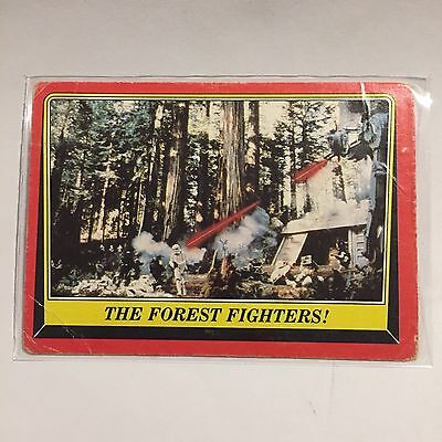 1983 SCANLENS TOPPS Card Star Wars Return Of The Jedi Forest Fighters #107