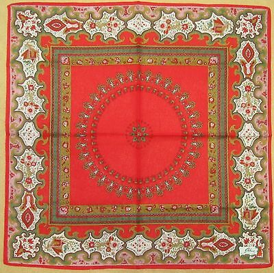 ETHNO *Red Ethnic Patterns Handkerchief /BEPINSN