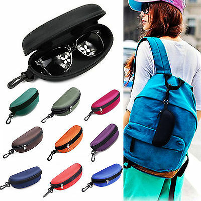 Popular Zipper Eye Glasses Sunglasses Hard Case Box Portable Protector Holder