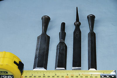 Chisels x 4 Without Handles E.A Berg, Toledo Sweden, Charles Taylor. Good old to