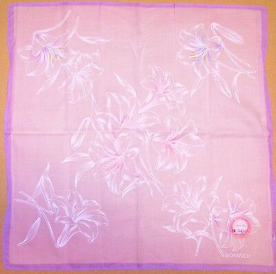 BOFARICH *Oriental Lily See-through Handkerchief /TOKUSHA