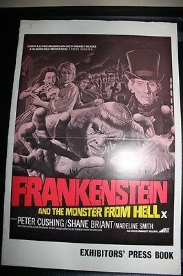 Hammer Films - Frankenstein & The Monster From Hell - Original Uk  Pressbook