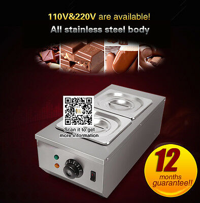 Commercial Electric Chocolate Tempering melting Machine with 2 Melting Pots