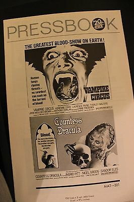 Hammer Films - Vampire Circus/countess Dracula - Original Us  Pressbook