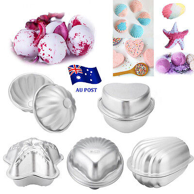2pcs Aluminum Bath Bomb Molds Cake Pan Baking Pastry Moulds DIY Crafting Gifts B