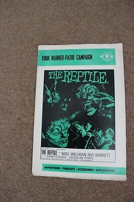 Hammer Horror - The Reptile - Original Uk Pressbook