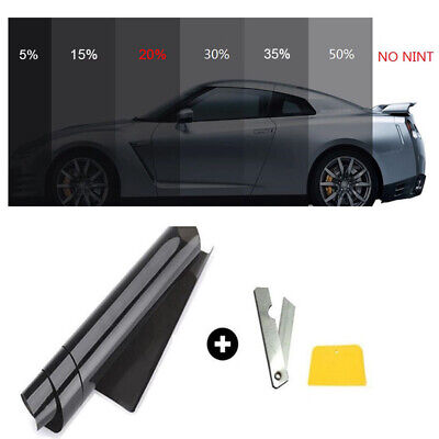 20% VLT Car Black Pro Car Home Glass Window Tint Tinting Film Roll 50cm*3m New