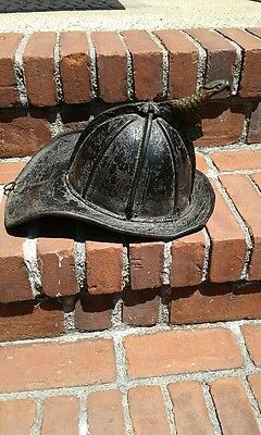 Cairns Leather Fire Fighter Helmet