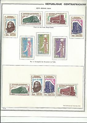 Central African Rep 1963 Locos Set + Sheet And Nubian Set Fresh Mlh
