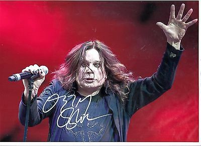 Ozzy Osbourne 8x12 Col Photo Signed Comes With coa
