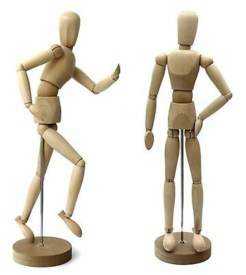 Artists Mannequin Puppet 30 cm = 11.8 inch Solid Wood