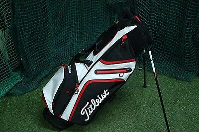 Titleist Stand Bag / Black White Red / 3-Way Divider / Tig3Wa001