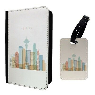 Seattle Skyline Kofferanhänger & Pass-etui - S487