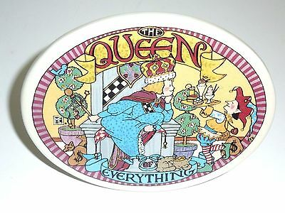 Rare Mary Engelbreit The Queen Of Everything Ceramic Display Wall Hanging Desk