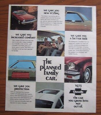 1973 Canadian Chevrolet Car Ad  Chevelle  Canada