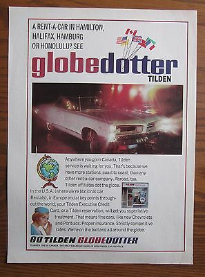 1966 Canadian Tilden Rent A Car Pontiac Parisienne World Globetrotter